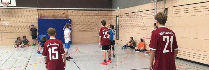 Jugen trainiert für Olympia –Volleyball