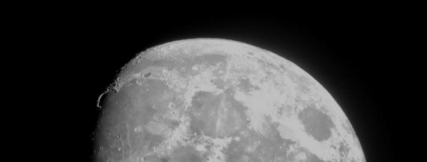 Mond am Nachtimmel
