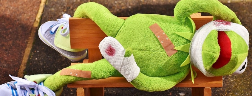 Erste Hilfe Frosch