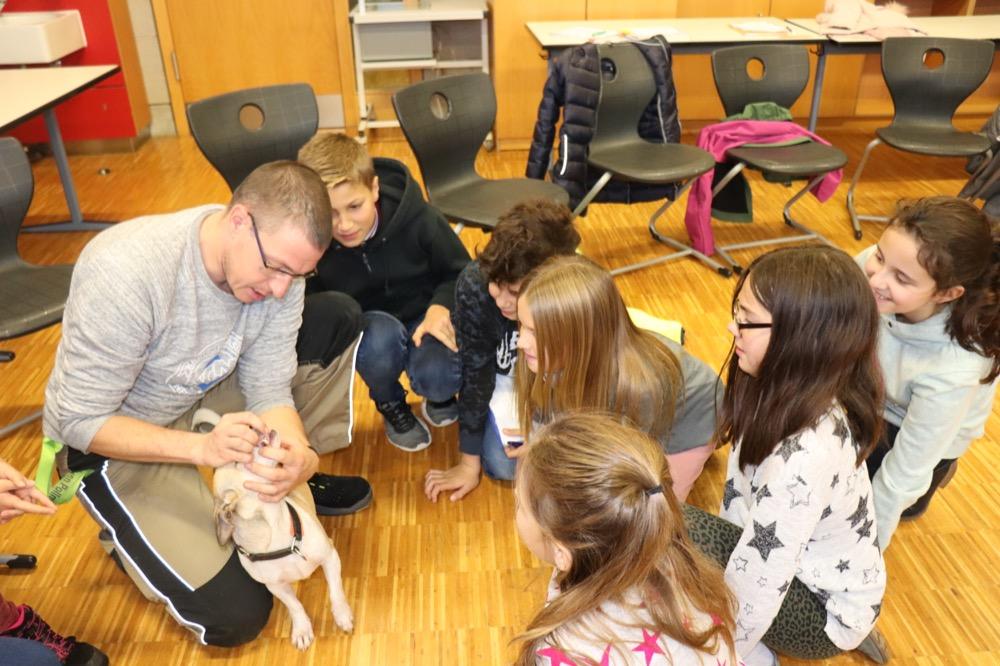 Hundebesuch in der Klasse