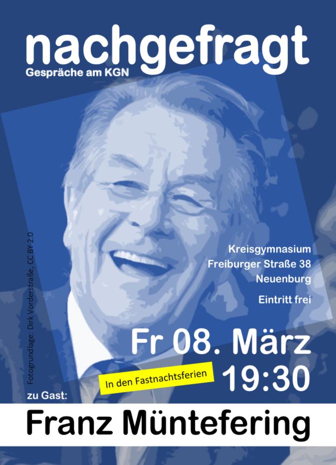 KGN nachgefragt, Franz Müntefering