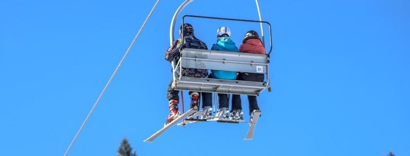 Skifahren Gondel